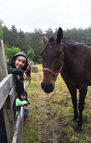 Ladies with horse