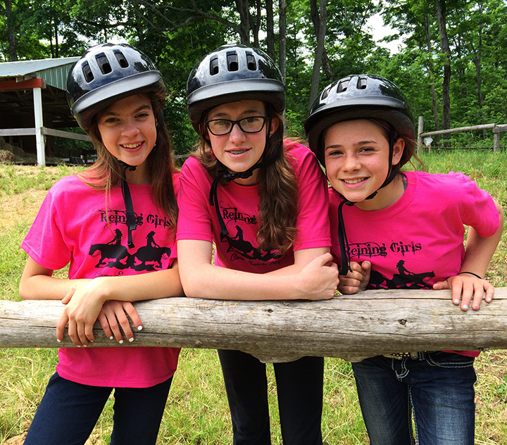 three ladies at the corral