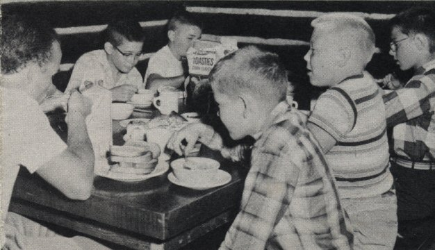 1950s Breakfast in Mess Hall